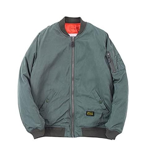Winter Bomber Jackets For Men Padded Men's Winter Coat Male Windbreaker Men's Winter Parka Clothes green jacket XXL