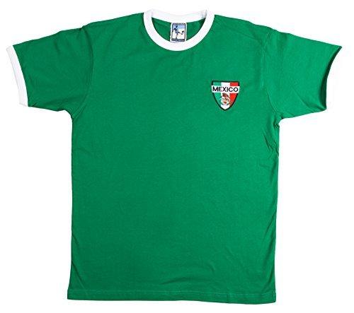 Old School Football - Camiseta de Fútbol de la Selección Mexicana - 2x Extra Grande