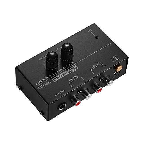 Find Discount Leepesx Ultra-compact Phono Preamp Preamplifier with Level & Volume Controls RCA Input...