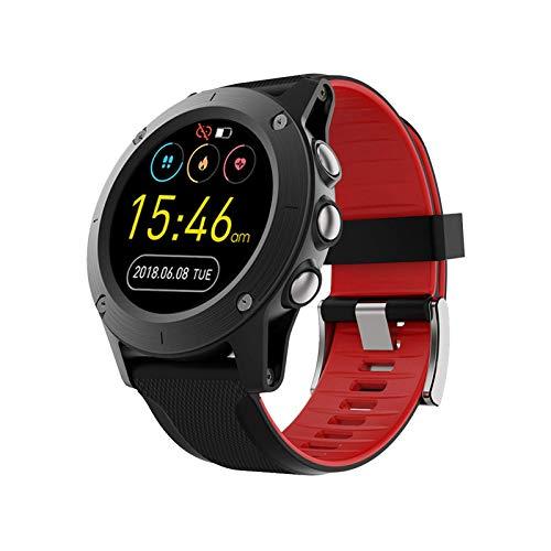 ZHENAO Smart Watch, Pantalla Táctil Completa de 1.3 Pulgadas Posicionamiento Impermeable Al Aire Libre para Hombre Bluetooth Multifunción Deportivo Reloj Inteligente para Android Y Ios. Regalo d