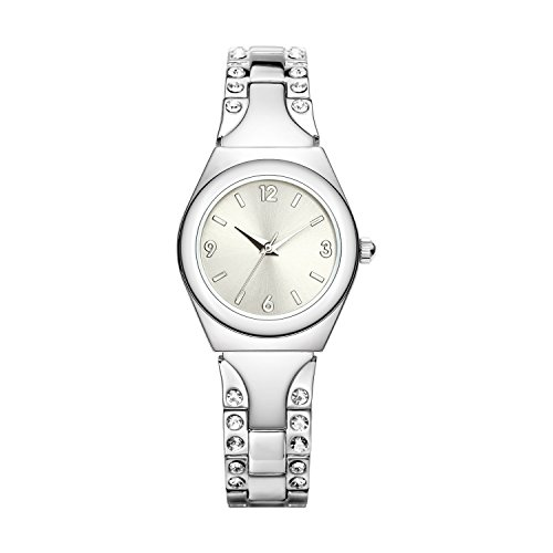 NUOVO Damen-Armbanduhr Mit Diamant Silber Armband (kleines Zifferblatt)
