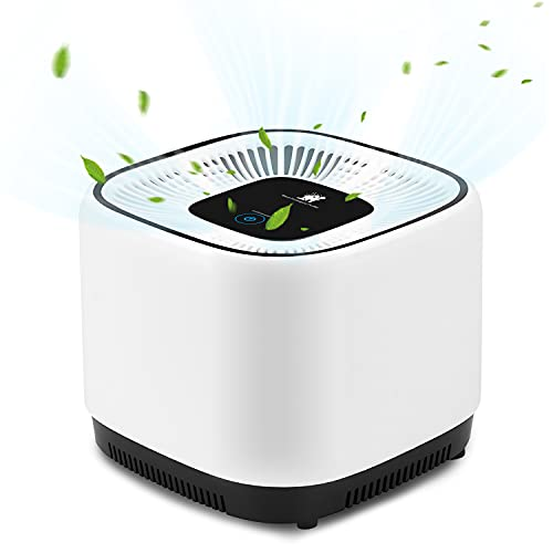 Luftreiniger mit True HEPA Filter, Tragbar Air Purifier mit UV-licht Keimtötung Verbesserter Desktop Luftfilter Raumluftfilter gegen 99,97{a73c5c5c78e7f524ae70b172727e75bb6c8ac64be71f65957d7d659fb18abcdf} Staub,Rauch, Gerüche, Pollen und Tierhaare (Luftreiniger)