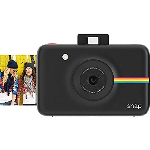 Zink Polaroid Snap Instant Digital Camera (Black) with ZINK Zero Ink Printing Technology
