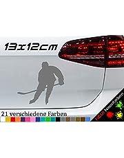IJshockey Silhouette sticker lijm vinyl racket sport ijs ijs DEL NHL 13x12cm in 21 kleuren
