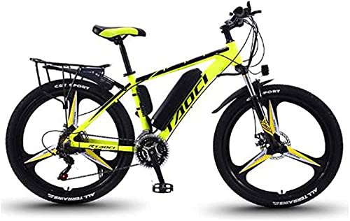 Bicicleta De Montaña Eléctrica De 26 '' con Batería Extraíble De Iones De Litio De Gran Capacidad (36V 350W 8Ah) Frenos De Disco Doble para Ciclismo Al Aire Libre Viajes De Trabajo (Color: Blanco AZ