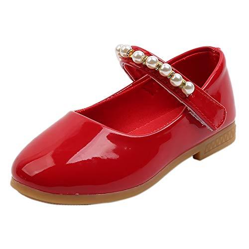Berimaterry Merceditas para niñas Zapatos de bebé niña PU Casuales Oxford con Cordones Fondo Suave Antideslizante Zapatos de Princesa con Cinta Mágica biomecanics niña Zapatos comunion