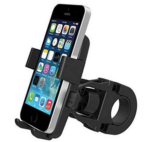 Kashy Mobile Phone Holder, Bike Motorcycle Mobile Phone Holder, Mountain Bike Accessories and Equipment, Two-Way 360 Degrees, Black