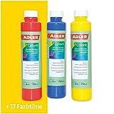 ADLER AVIVA Colorit-AF 501 Gelb 250 ml Volltonfarbe Abtönfarbe Wandfarbe
