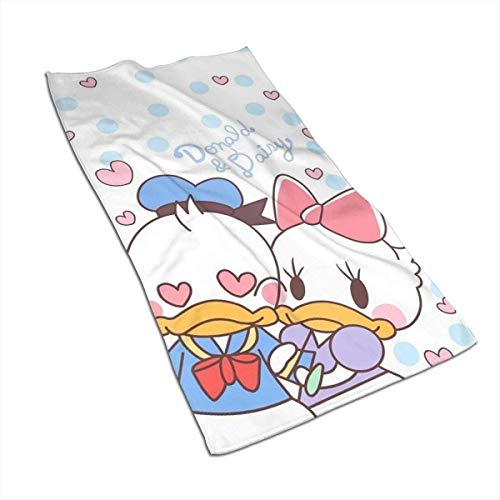 Hdadwy Toallas de Mano - Donald y Daisy Toalla de Lujo Suave y Absorbente 27.5 'X 17.5'