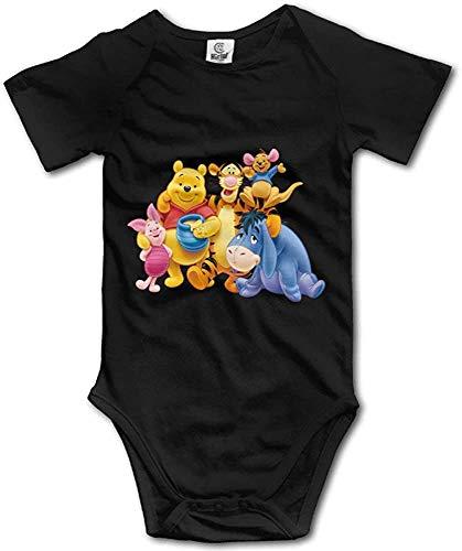 RTGreat Unisex Baby Winnie The Pooh Short Sleeve Bodysuit Set Body de bebé