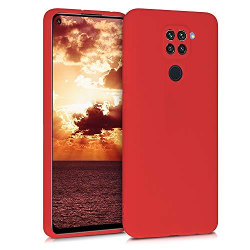 kwmobile Funda Compatible con Xiaomi Redmi Note 9 - Carcasa de TPU Silicona - Protector Trasero en Rojo Mate