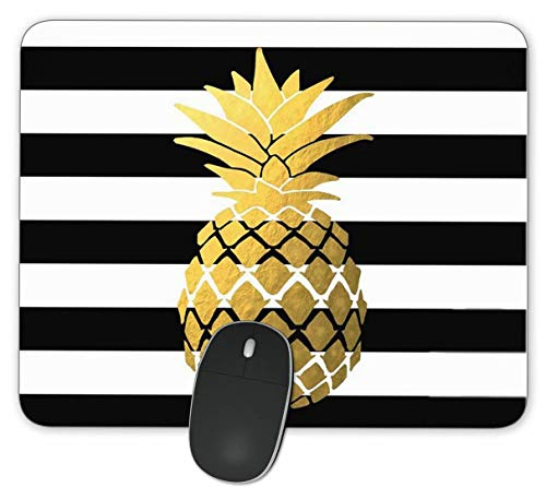 Pineapple Gaming Mouse Pads- Rectangle Mouse Mat for Cute Women, Girls, Non-Slip Rubber Mousepad for Office Computers Laptop
