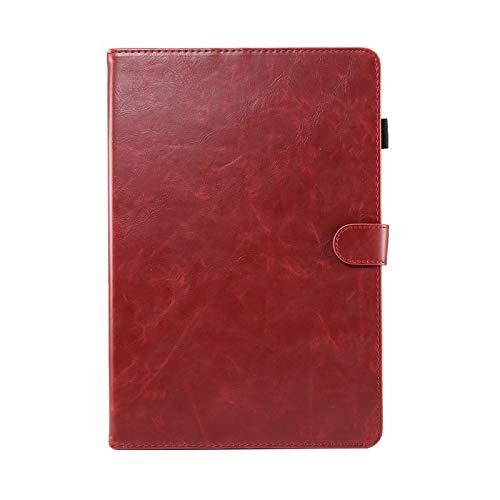 GHC Pad Fundas & Covers For la lengüeta 9.7' Un SM-T550 T555 P550 P555, Caso tabletas Soporte de la Carpeta de Cuero Elegante de la PU for la lengüeta A 9.7' (Color : Red)