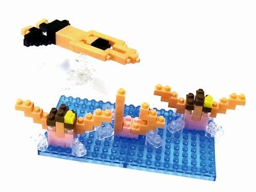 Nanoblock 58514345 - Schwimmen, 3D-Puzzle, Mini Collection, Schwierigkeitsstufe 2, mittel, 160 Teile