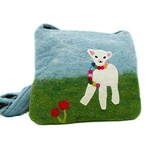 feelz – Umhängetasche aus Filz mit lamm, klein, für Kinder, kleines Schaf, Kindertasche, Filztasche mit Lämmchen…