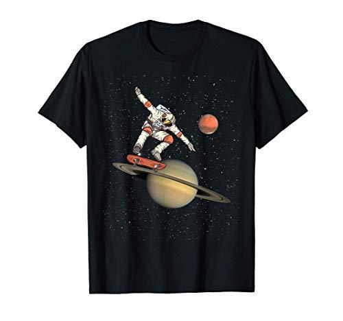 Skater Skate Board Skateboard Astronaute Rampe Trick Cadeau T-Shirt