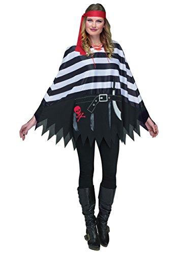 Fun World Pirate Poncho Costume Standard Black