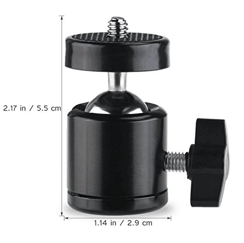 BESTEAM 360 Degree Swivel Mini Tripod Ball Head with 1/4
