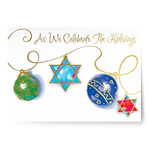 Designer greetings - Boxed Holiday Cards - Interfaith Cards for People Who Celebrate Both Christmas and Hanukkah - As We Celebrate The Holidays (125-00337-000)