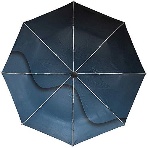 Automatischer Regenschirm-Wellen-Schatten-Hintergrund-dunkle Reise-bequemer winddichter wasserdichter faltender offener Selbstschluss