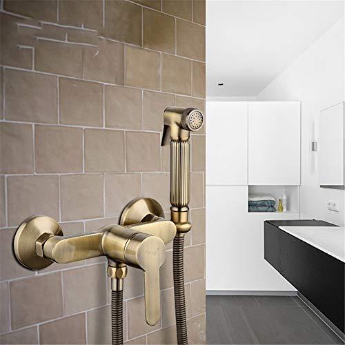 HNBMC Grifo de Ducha de Bronce para baño, Monomando en la Pared, Grifo de Agua fría, manija única contemporánea