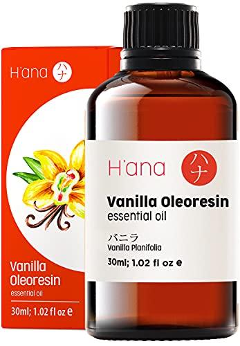 Hana Vanilla Essential Oil for Diffuser - Relax and Stay Sweet with Vanilla Essential Oil for Skin - 100 Pure Natural Therapeutic Grade Essential Oils Vanilla Oil for Aromatherapy and Topical - 30ml