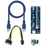 LIZHOUMIL Breakout Board - Juego de adaptadores PCI-E de 4 pines a PCIE + cable alargador para minería azul