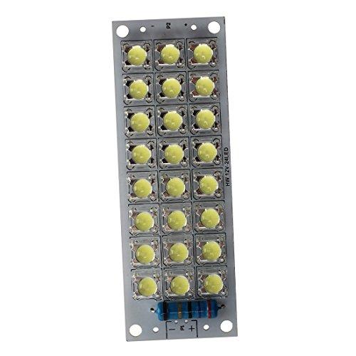 Fltaheroo 2W 24 LED 12V Bombilla Lampara Panel Luz Blanco para Coche Auto