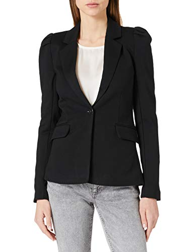 Only ONLTASIA-VIKE L/S Puff Blazer CC TLR, Negro, 42 para Mujer