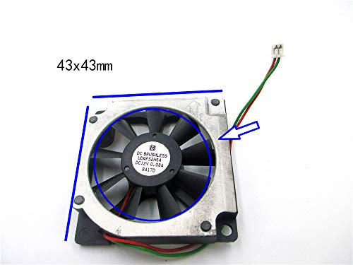5PCS Original USED fan for Panasonic UDQFS2H54 12V 0.08A 43X43X10MM 4.5CM 45mm 45x45x10mm 4510 turbo fan blower best DIY option