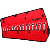 ARUMIN Reversible Ratcheting Wrench 12 Point Combination Metric Wrench 72-Tooth Ratchet Wrenches (15-Piece 8-22MM)