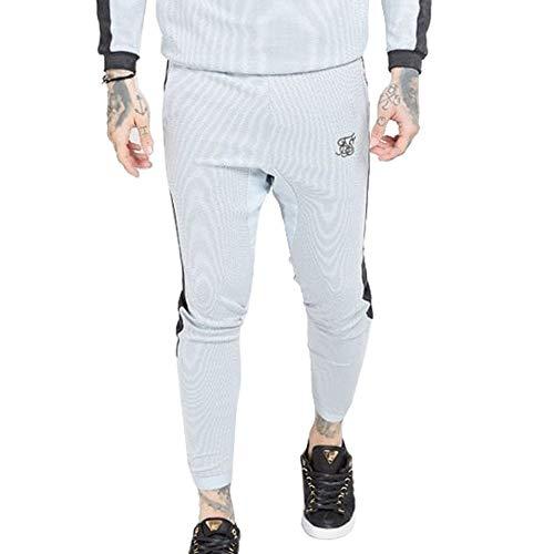 Sik Silk - SS 15355 Athlete Eyelet Tape Tracks Pants - PANTALÓN Chandal - Hombre (XS)