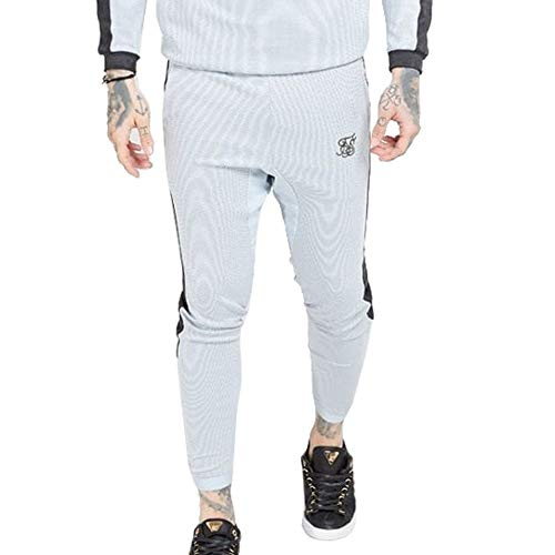 Sik Silk - SS 15355 Athlete Eyelet Tape Tracks Pants - PANTALÓN Chandal - Hombre (XS)