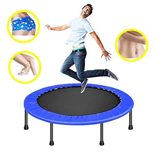 JY&WIN Trampolín en casa Trampolín de Interior Trampolín elástico para niños Cama de Yoga de trampolín de Fitness, Azul
