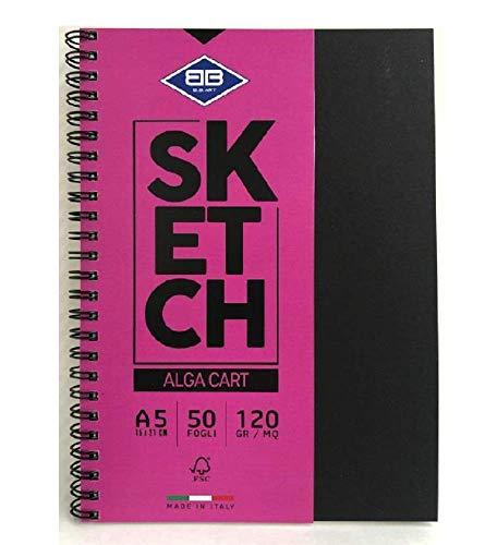 AEROGRAFANDO Cuaderno Sketch Alga Cart para dibujo formato A5 120 g/m²