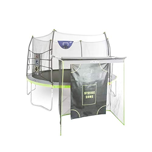Skywalker Trampolines 14' Round Trampoline w/game combo -Gray and Light Green