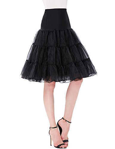 Women 50s Retro Petticoat Underskirt Plus Size Vintage Swing 1960 Rockabilly Crinoline steampunk buy now online