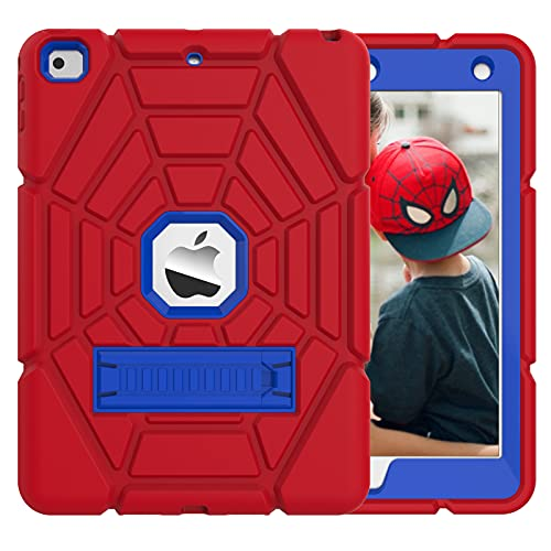 Grifobes iPad Mini 5 Case,iPad Mini 4 Case for Kids,Heavy Duty Shockproof Rugged Case Cover with Kickstand,High Impact Full Body Protective Case for iPad Mini 5th 4th Generation 7.9 inch -Red+Blue