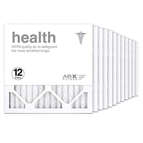AIRx Filters 14x14x1 Air Filter MERV 13 Pleated HVAC AC Furnace Air Filter, Health 12-Pack, Made in the USA