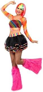 Smiffy's Rainbow Raver Kit - Multi-Coloured