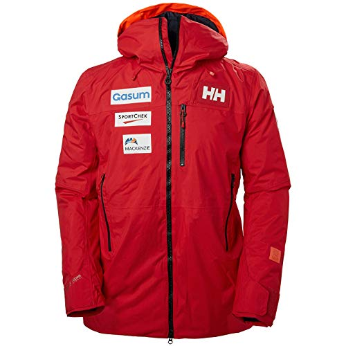 Helly Hansen Straightline Lifaloft Jacket Chaqueta, Hombre, 223 Can Alert Red, S