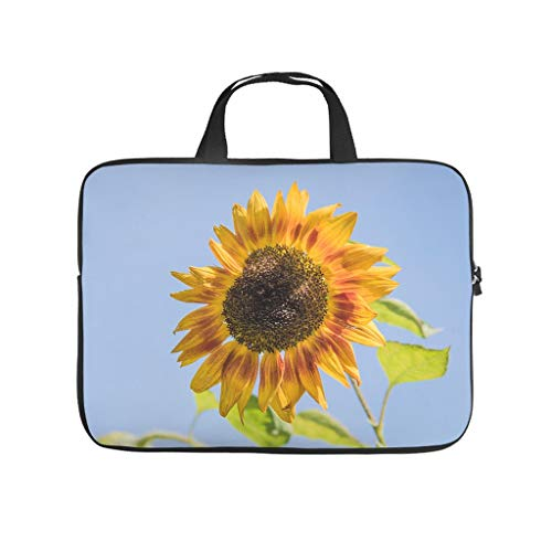 Flower Plant Sunflower Laptop Sleeve Funny Full Printed Laptop Computer Carrying Case Dust Proof Neoprene Laptop Sleeve Various Sizes for Teen Students White 17inch
