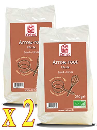 Celnat - Arrow-Root Bio 250G - Lot de 2 Paquets de 250g
