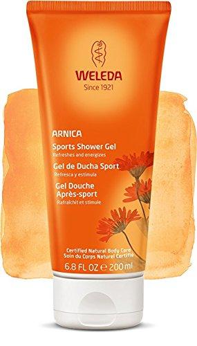 Gel de Ducha Sport con Árnica, ideal después del ejercicio - Weleda (200 ml) - Se envía con: muestra gratis y una tarjeta superbonita que puedes usar como marca-páginas!