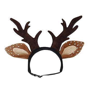 Balacoo Chapeau de Renne pour Chien ou Chat, Costume de Noël avec Chapeau de Renne Taille S