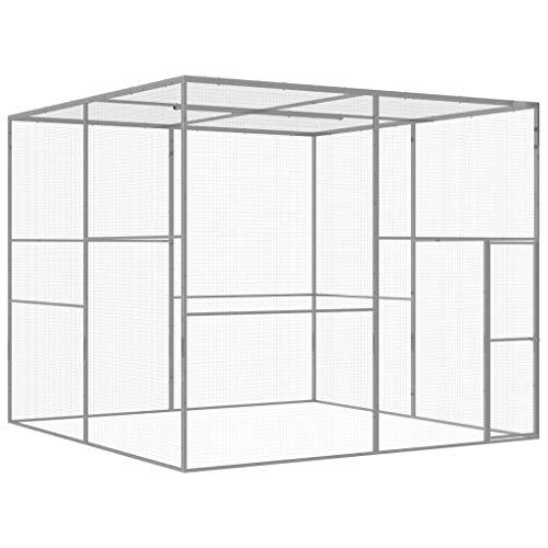 vidaXL Katzenkäfig 3x3x2,5m Verzinkter Stahl Katzengehege Haustierkäfig Käfig