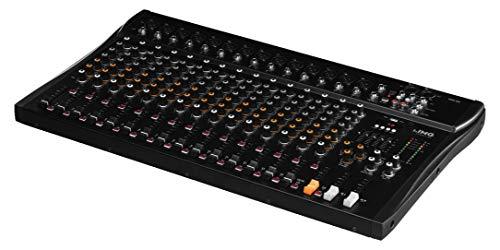 IMG STAGELINE MXR-160, 16-Kanal Audio-Mischpult mit integriertem MP3-Player und Bluetooth-Empfänger, Audio-Console mit 14 Mono-Eingangskanälen mit Gainregler, Mix-Pult in Schwarz