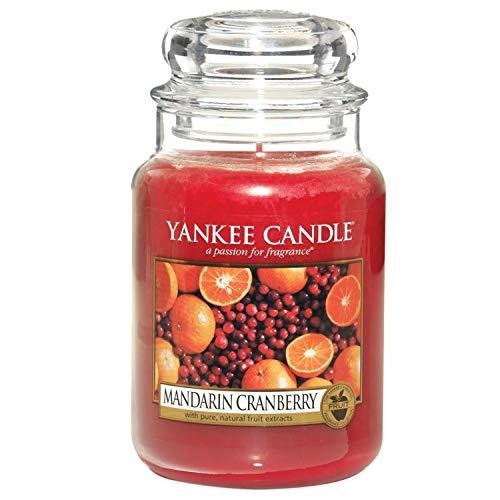 Yankee Candle Duftkerze im Glas (groß)   Mandarin Cranberry   Brenndauer bis zu 150 Stunden