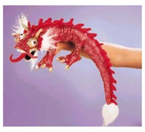Folkmanis Puppet Small Red Dragon