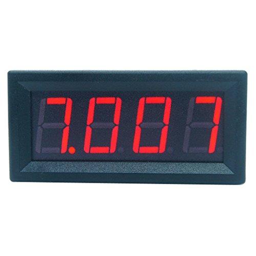 Exing Panel de voltímetro digital de CC 0-99,99 V, 4 dígitos, 3...
